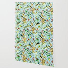 Colourful Birds Chintz Multicolour Wallpaper