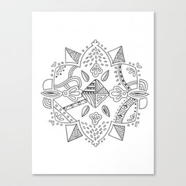 Mandala start Canvas Print
