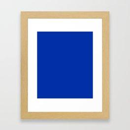 International Blue - solid color Framed Art Print