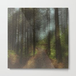 Abstract Forest Trail Metal Print