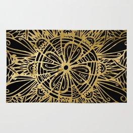 Zen Gold, Mandala 1 Rug