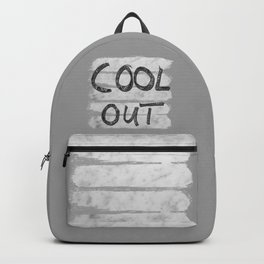 COOL OUT #3 #motivational #typo #decor #art #society6 Backpack