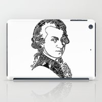 mozart iPad Cases featuring Wolfgang Amadeus Mozart by Pablo Toussaint