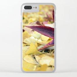 Autumn Sweetgum Leaves Clear iPhone Case