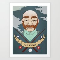 Billiard player Art Print