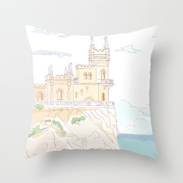 Old medieval castle. Wall art. Throw Pillow