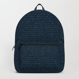 The Cannibal's Bedroom Blue Textured Throw Blanket Backpack