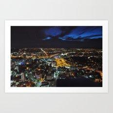 Auckland at Night Art Print