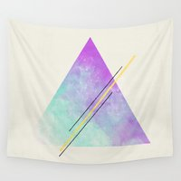 triangle Wall Tapestries featuring Triangle  by Allyson Johnson