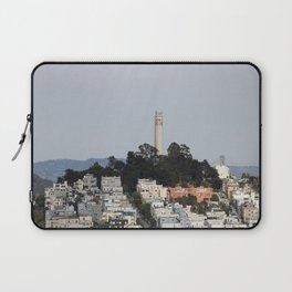 Streets Of San Francisco With Coit Tower Laptop Sleeve
