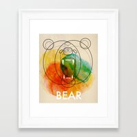 bear Framed Art Prints featuring Bear by Alvaro Tapia Hidalgo