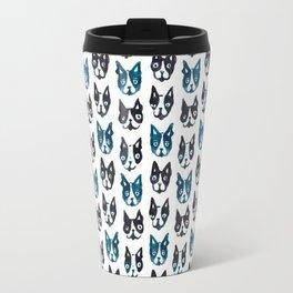 BOSTON TERRIER BLUE Travel Mug