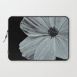 Black & White Cosmos Flower Illustration Laptop Sleeve