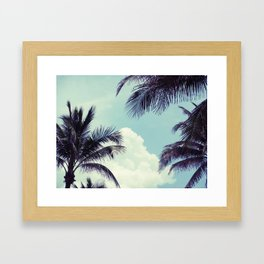 Welcome to Miami Palm Trees Framed Art Print