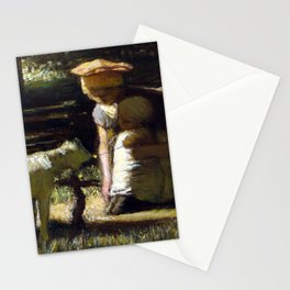 Matthijs Maris Getting acquainted (The little goat) Stationery Cards