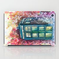 doctor iPad Cases featuring Doctor Who Tardis by Jessi Adrignola