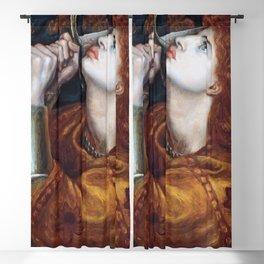 Joan of Arc 1882 by Gabriel Rossetti Artwork for Wall Art, Prints, Posters, Tshirts, Men, Women, Kids Blackout Curtain