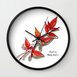 Nandina - Heavenly Bamboo Wall Clock