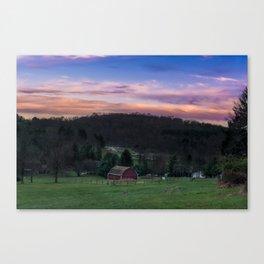 Townsend Park Barn Sunset Canvas Print