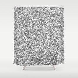 Spacey Melange - White and Dark Gray Shower Curtain