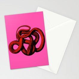 Snek 3 Snake Orange Pink Stationery Cards