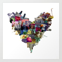 HEART MISSISSIPPI Art Print