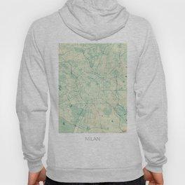 Milan Map Blue Vintage Hoody