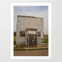 Post Office, Regan, North Dakota 3 Art Print