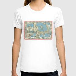 Vintage Map of Cape Cod (1945)  T-shirt