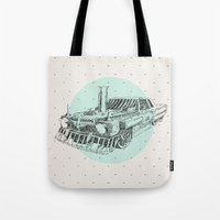 steam punk Tote Bags featuring Steam punk by grop