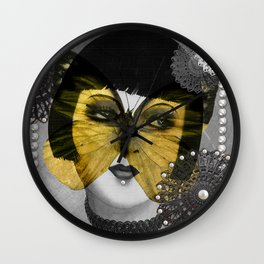 Butterfly Woman Wall Clock