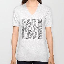 Faith Hope & Love Unisex V-Neck