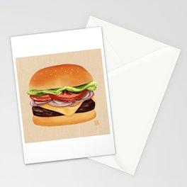 Burger Time - Digital Illustration Stationery Cards