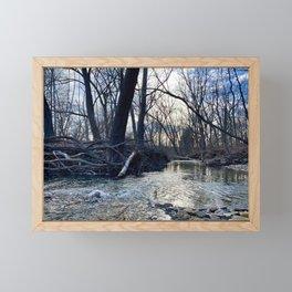 Creek Scene, Cuyahoga Valley Cleveland Ohio Framed Mini Art Print