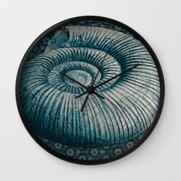 Ammonite on pattern 2201 Wall Clock