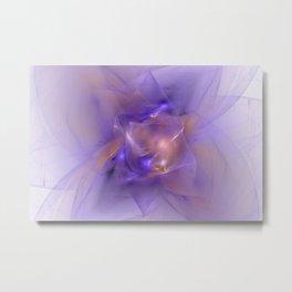 Folds in Purple and Orange Metal Print