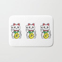 Maneki Neko (Japanese Beckoning Cat) Bath Mat