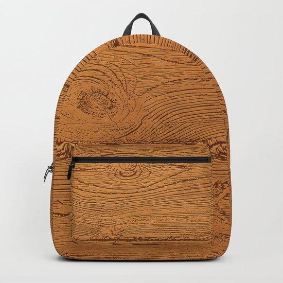 The Cabin Vintage Wood Grain Design Backpack