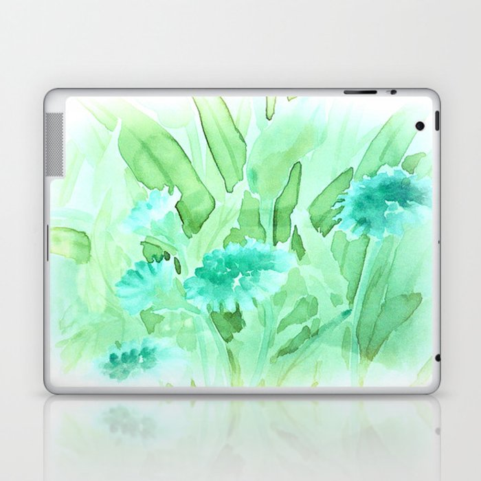 Soft Watercolor Floral Laptop & iPad Skin