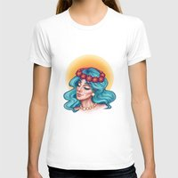 turquoise T-shirts featuring Turquoise by Zahra Awadh