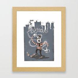 MERDE! Framed Art Print