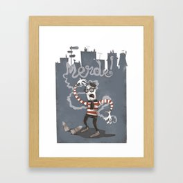 MERDE! Framed Art Print