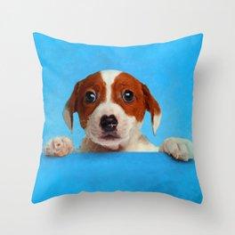 Cute Jack Russell Terrier Puppy Throw Pillow