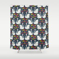 Swans by Andrea Lauren  Shower Curtain
