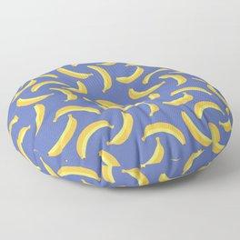 Bananas & Solid Blue Floor Pillow