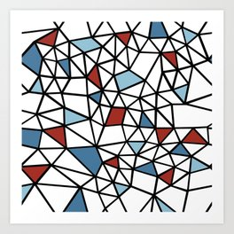 Segment Red and Blue Art Print