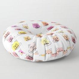 70 moods of cats Floor Pillow