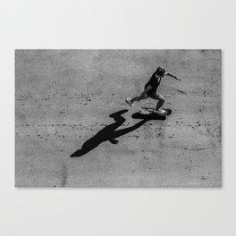 The girl on skateboard Canvas Print