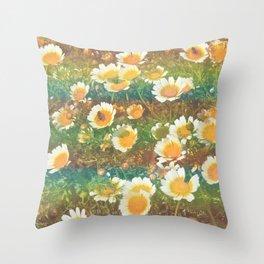 bees˴n˴daisies Throw Pillow