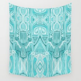 Totem and Tabou- tribal ink painting-geometry- african style Wall Tapestry